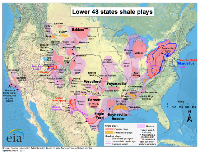 Lower 48 states shale plays